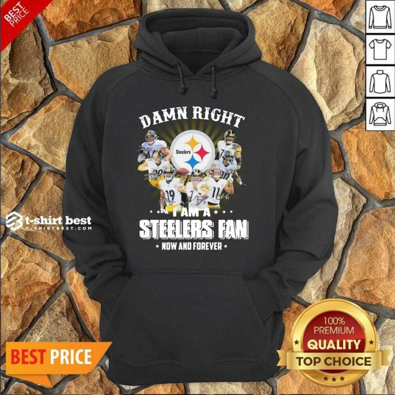 So Damn Right I Am A Pittsburgh Steelers Fan Now And Forever Signature Hoodie - Design By 1tees.com