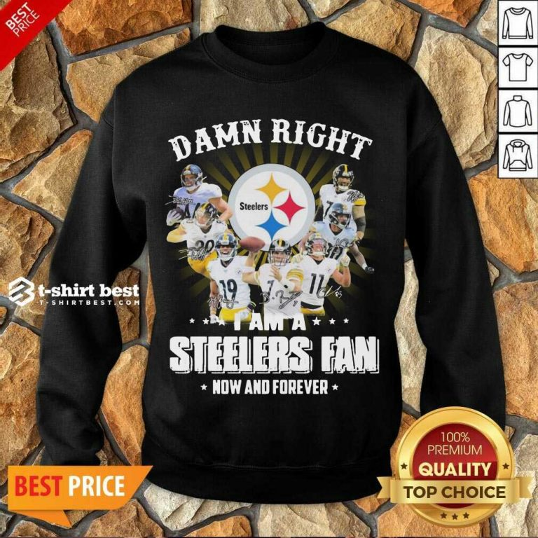So Damn Right I Am A Pittsburgh Steelers Fan Now And Forever Signature Sweatshirt - Design By 1tees.com