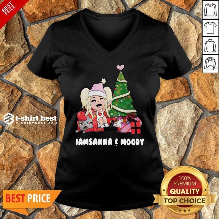 Nice I Am Sanna Moody Christmas Tree V-neck