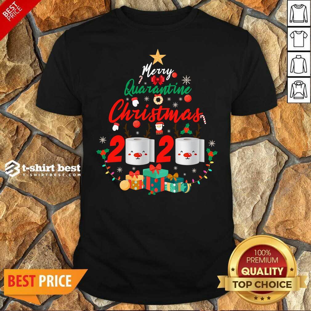 Nice Merry Quarantine Christmas 2020 Toilet Paper Santa Clause Shirt
