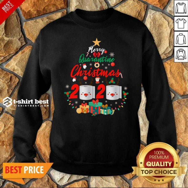 Nice Merry Quarantine Christmas 2020 Toilet Paper Santa Clause Sweatshirt