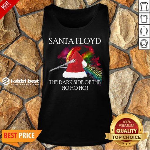 Nice Santa Floyd The Dark Side Of The Ho Ho Ho Christmas Tank Top
