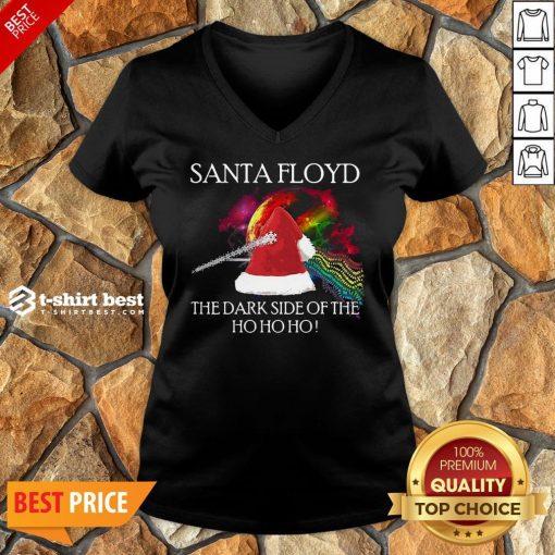 Nice Santa Floyd The Dark Side Of The Ho Ho Ho Christmas V-neck