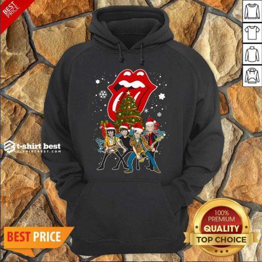 The Rolling Stones Band Music Wear Pajama Santa Christmas Tree Gift Hoodie - Design By 1tees.com