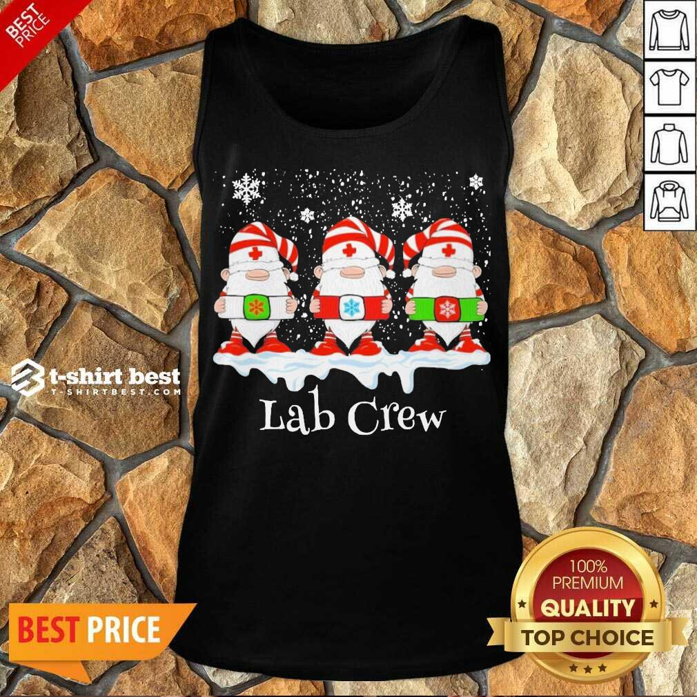 Gnome Nurse Lab Crew Merry Christmas 2020 Tank Top - Design By 1tees.com