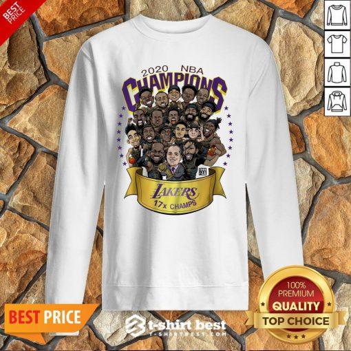 Official NBA Champions Lanker 17 Champs LA 2020 Sweatshirt