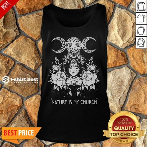 Official Witch Wicca Nature Is My Church Tank Top