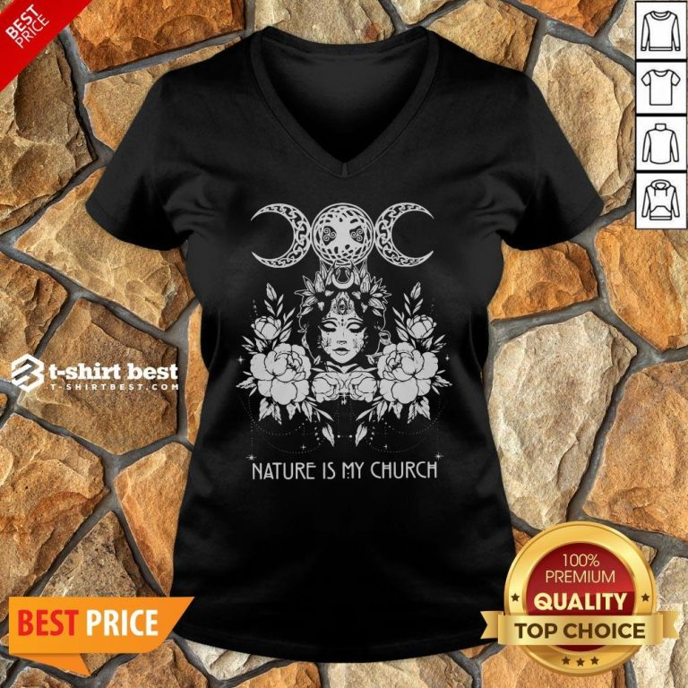 Official Witch Wicca Nature Is My Church V-neck