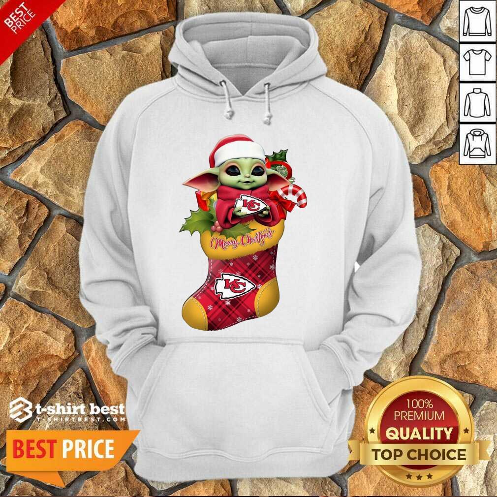 Baby Yoda Hug Kansas City Chiefs Ornament Merry Christmas 2020 Hoodie - Design By 1tees.com