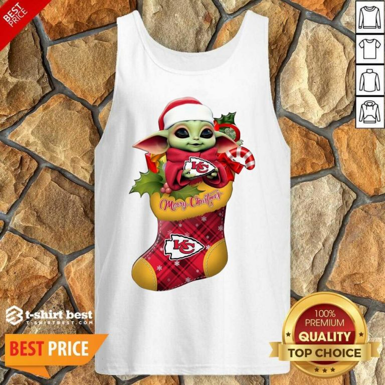 Baby Yoda Hug Kansas City Chiefs Ornament Merry Christmas 2020 Tank Top - Design By 1tees.com