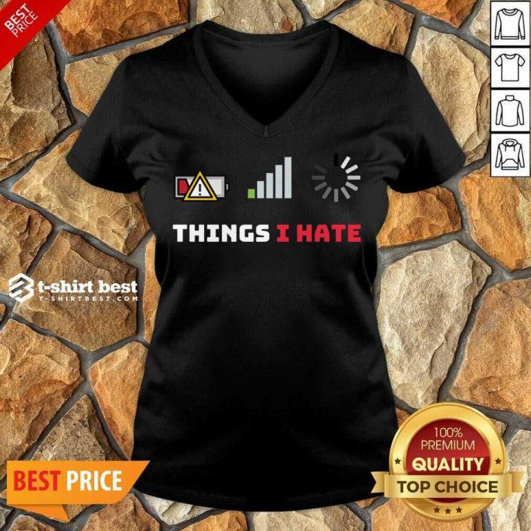 Things I Hate Funny Programmer Gamer Birthday Christmas V-neck - Design By 1tees.com