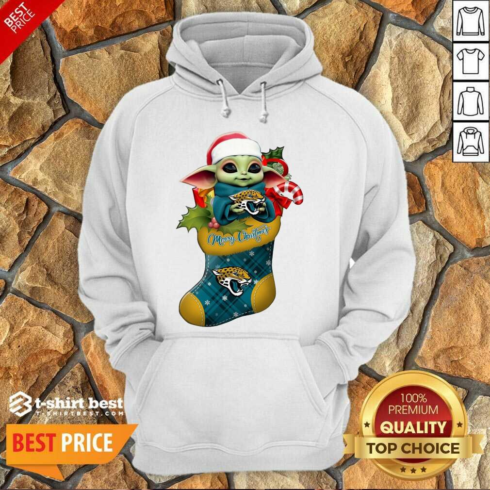 Baby Yoda Hug Jacksonville Jaguars Ornament Merry Christmas 2020 Hoodie - Design By 1tees.com