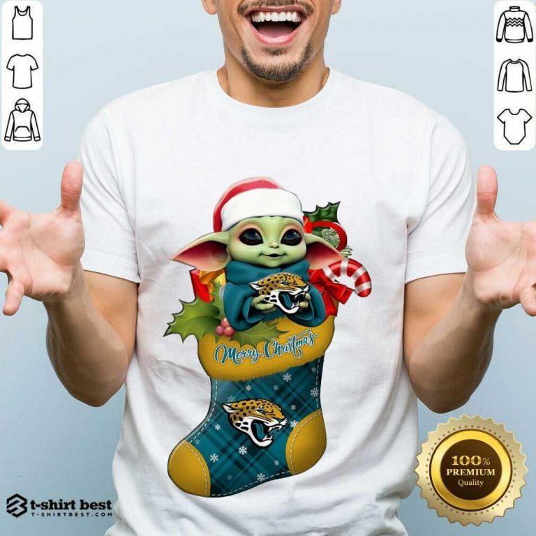 Perfect Baby Yoda Hug Jacksonville Jaguars Ornament Merry Christmas 2020 Shirt - Design By 1tees.com