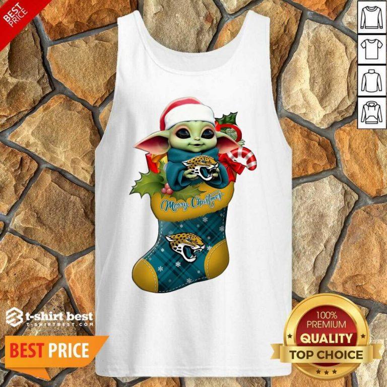 Perfect Baby Yoda Hug Jacksonville Jaguars Ornament Merry Christmas 2020 Tank Top - Design By 1tees.com