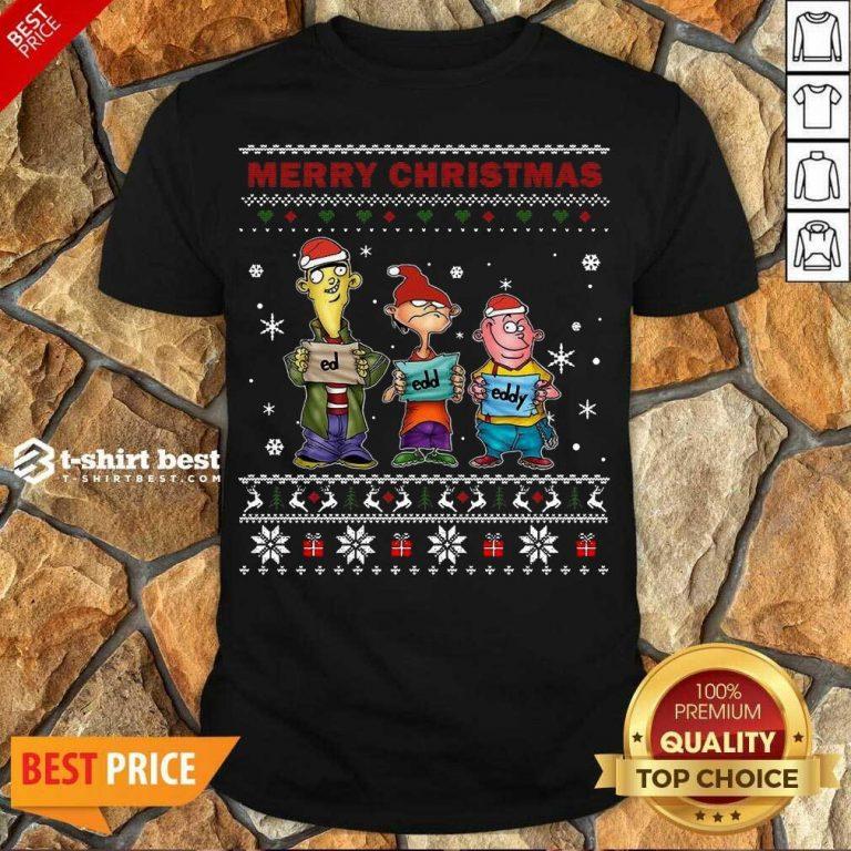 Perfect Ed Edd Eddy Merry Christmas Ugly Shirt - Design By 1tees.com