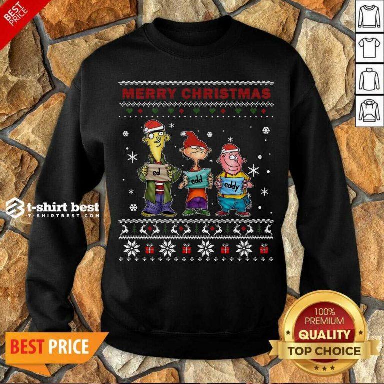 Ed Edd Eddy Merry Christmas Ugly Sweatshirt - Design By 1tees.com