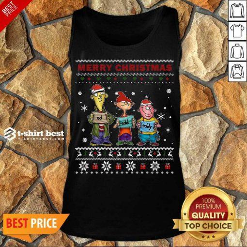 Ed Edd Eddy Merry Christmas Ugly Tank Top - Design By 1tees.com