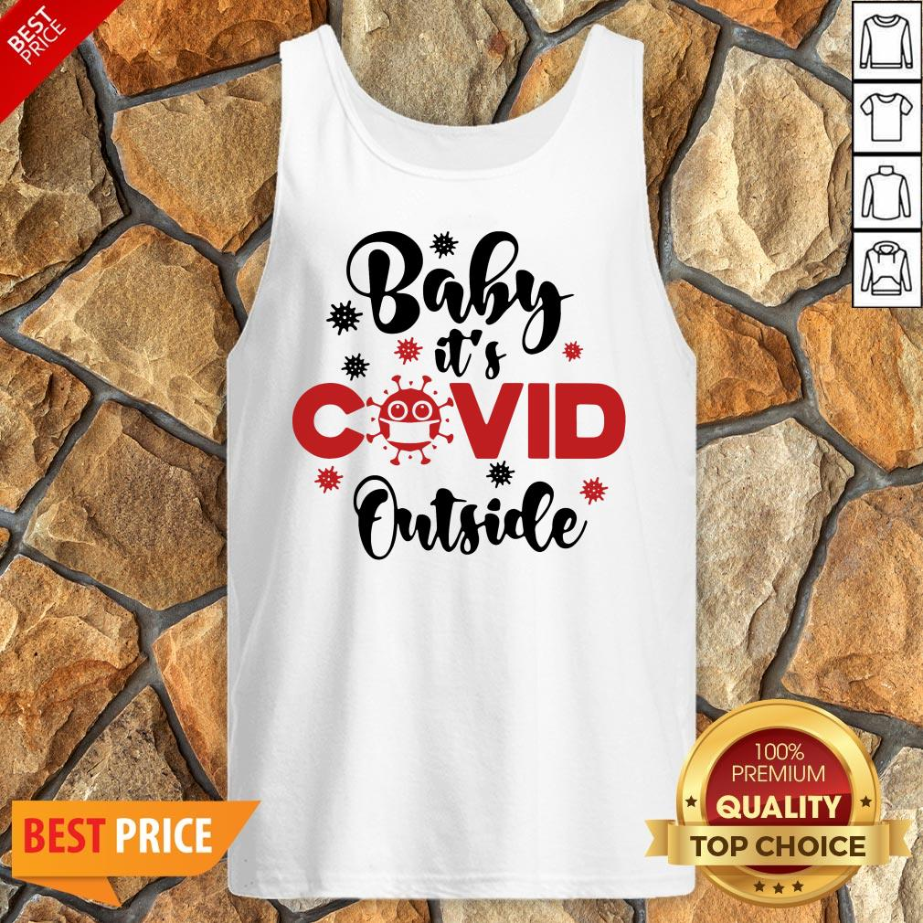Premium Baby It's Covid Outside Christmas Tank Top