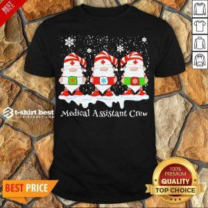 Premium Gnome Nurse Medical Assistant Crew Merry Christmas 2020 Shirt - Design By 1tees.com