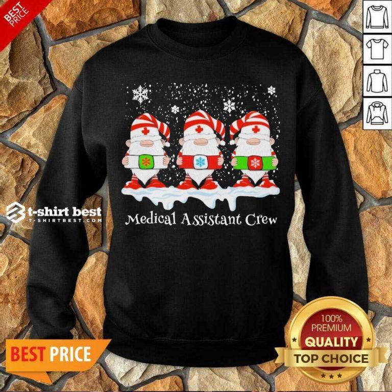 Gnome Nurse Medical Assistant Crew Merry Christmas 2020 Sweatshirt - Design By 1tees.com