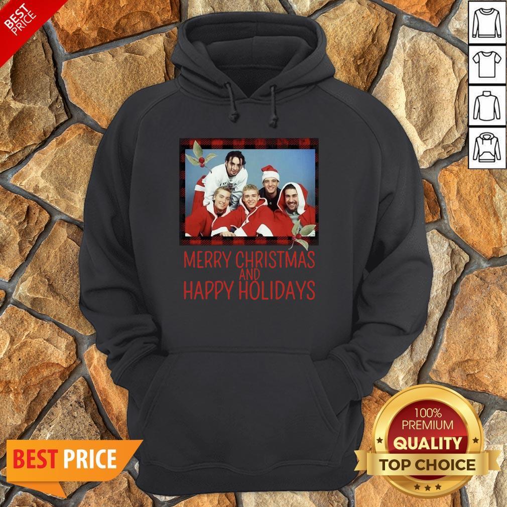 Premium NSYNC Merry Christmas And Happy Holidays Sweat Hoodie