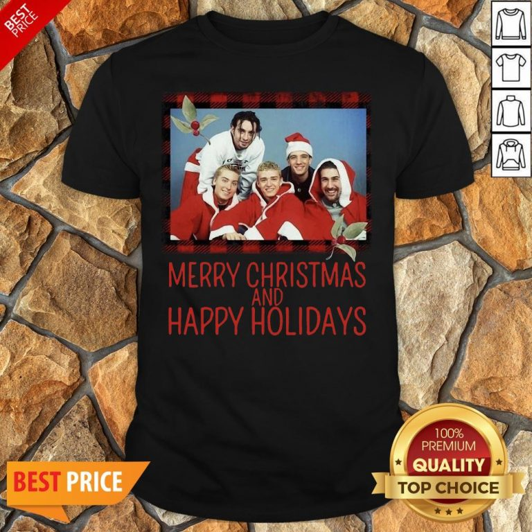 Premium NSYNC Merry Christmas And Happy Holidays Sweat Shirt
