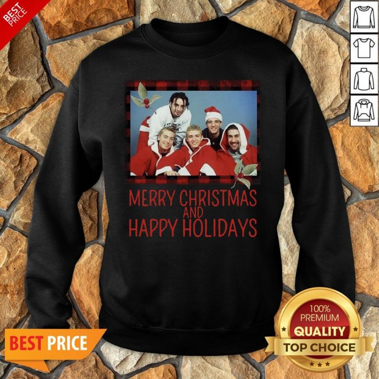 Premium NSYNC Merry Christmas And Happy Holidays Sweat Sweatshirt
