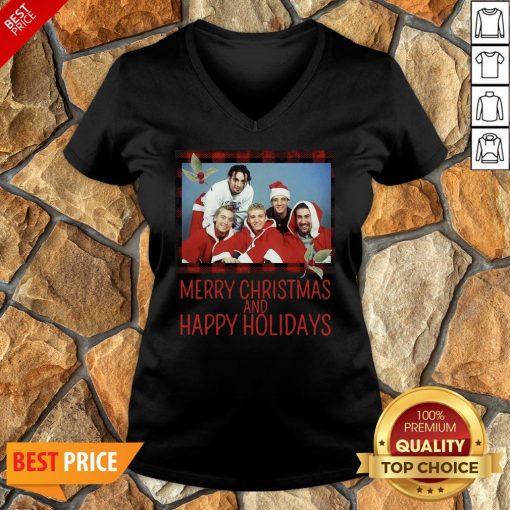 Premium NSYNC Merry Christmas And Happy Holidays Sweat V-neck