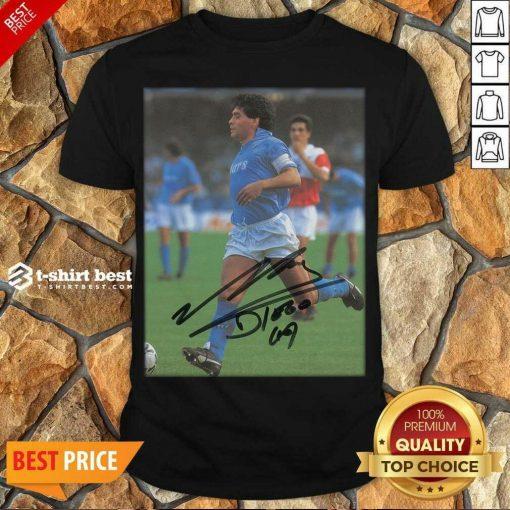 Premium Rip Diego Maradona Legend Never Die Signature Shirt - Design By 1tees.com