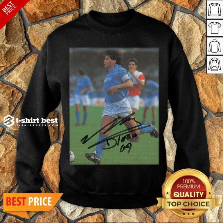 Rip Diego Maradona Legend Never Die Signature Sweatshirt - Design By 1tees.com