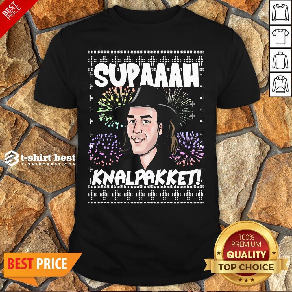 Premium Supaaah Knalpakket Ugly Christmas Shirt