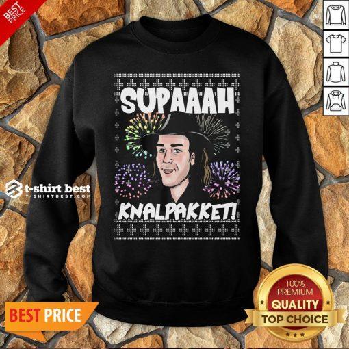 Premium Supaaah Knalpakket Ugly Christmas Sweatshirt