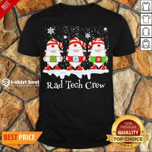 Pretty Gnome Nurse Rad Tech Crew Merry Christmas 2020 Shirt - Design By 1tees.com
