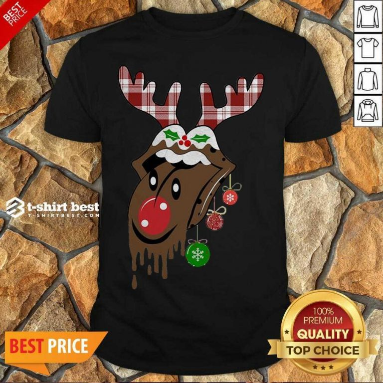 Pretty Reindeer Rolling Stones Merry Christmas Shirt - Design By 1tees.com