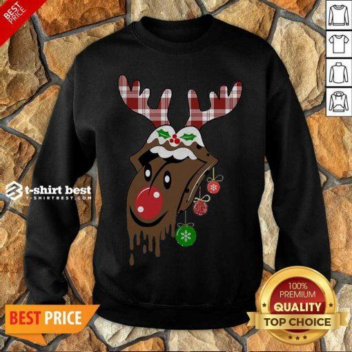Reindeer Rolling Stones Merry Christmas Sweatshirt- Design By 1tees.com