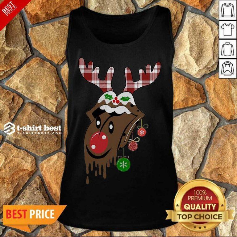 Reindeer Rolling Stones Merry Christmas Tank Top - Design By 1tees.com
