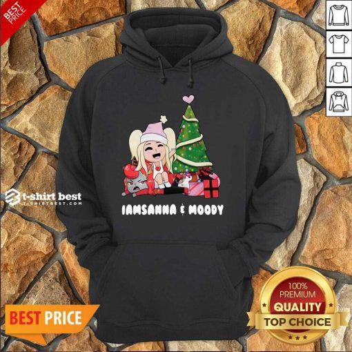 Sanna Iamsanna E Moody Christmas Hoodie - Design By 1tees.com