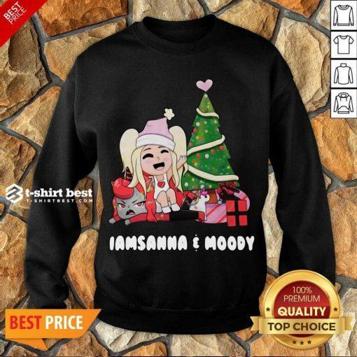 Sanna Iamsanna E Moody Christmas Sweatshirt - Design By 1tees.com