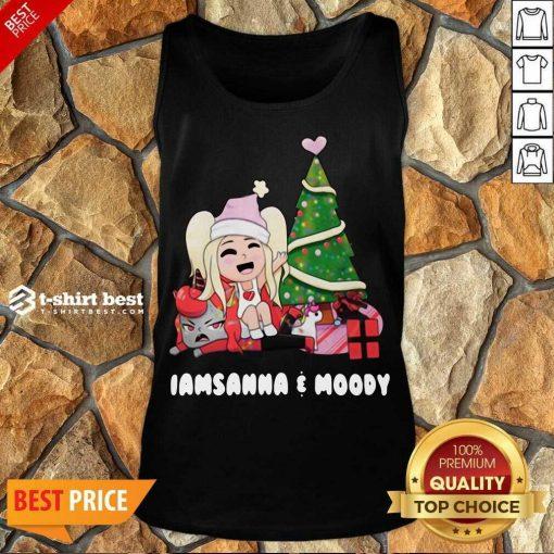 Sanna Iamsanna E Moody Christmas Tank Top - Design By 1tees.com