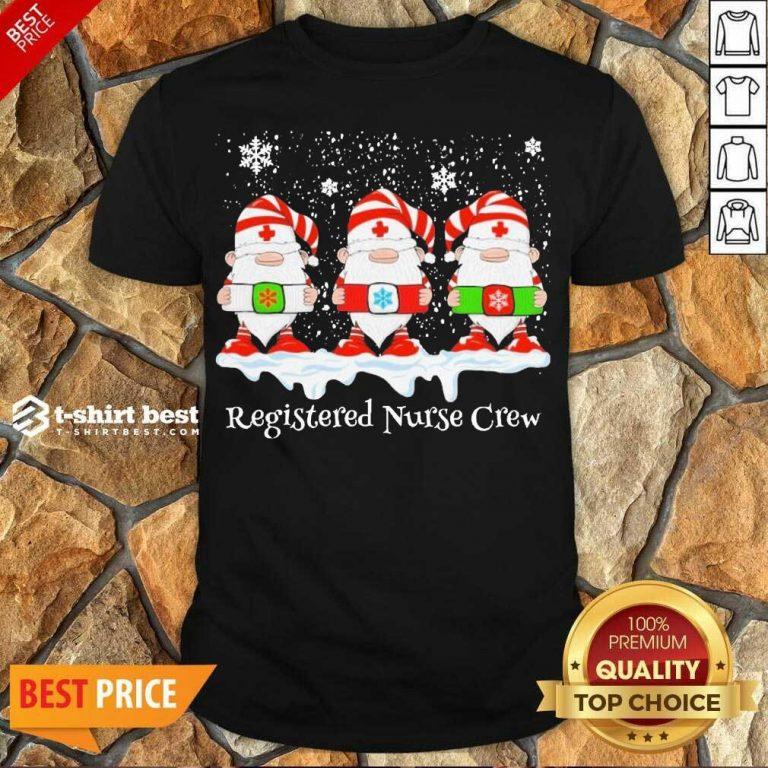 Top Gnome Nurse Registered Crew Merry Christmas 2020 Shirt - Design By 1tees.com