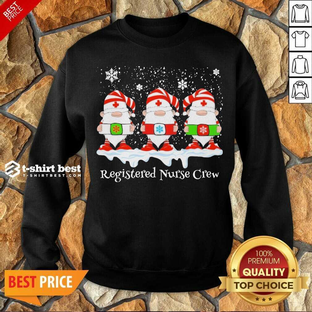 Gnome Nurse Registered Crew Merry Christmas 2020 Sweatshirt - Design By 1tees.com