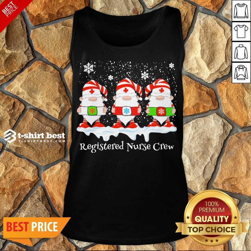 Gnome Nurse Registered Crew Merry Christmas 2020 Tank Top - Design By 1tees.com