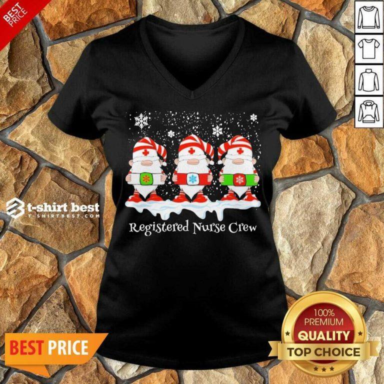Gnome Nurse Registered Crew Merry Christmas 2020 V-neck - Design By 1tees.com
