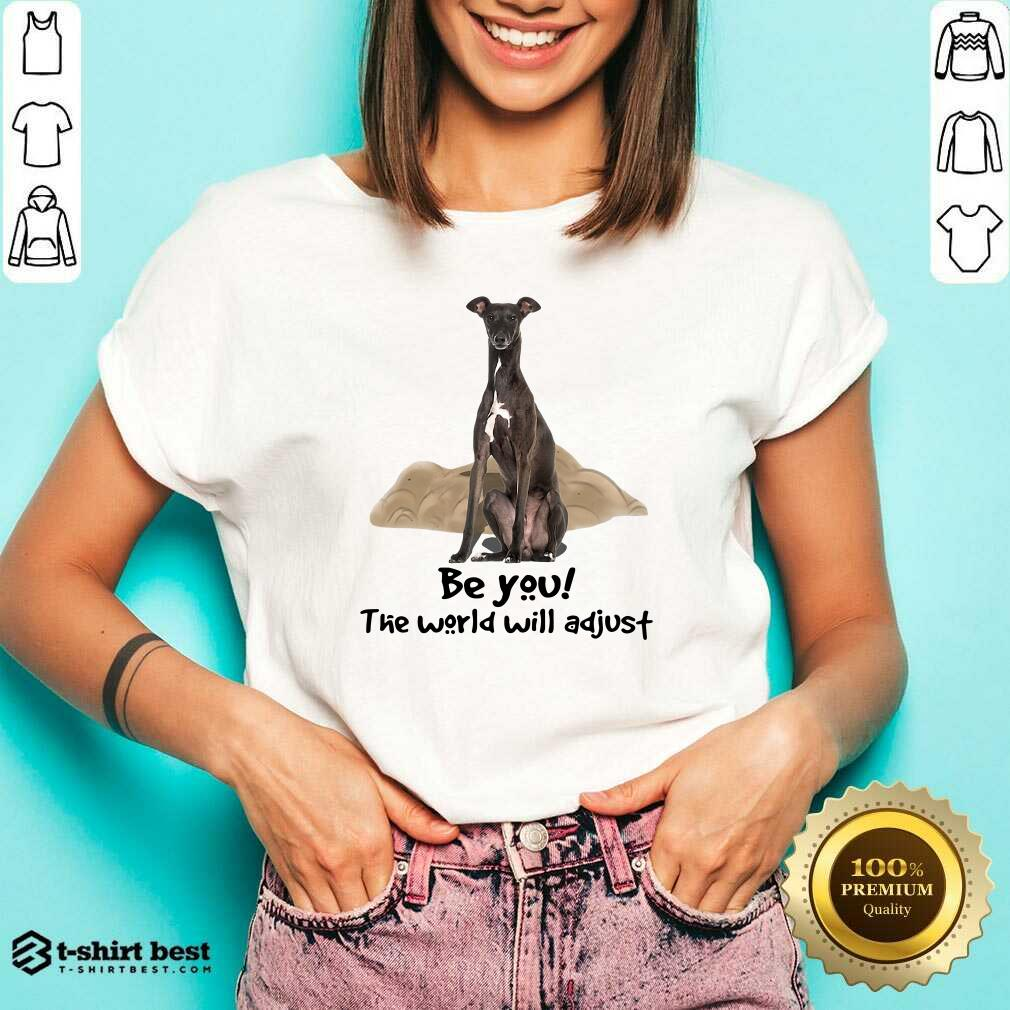 Top Greyhound Be You The World Will Adjust V-neck