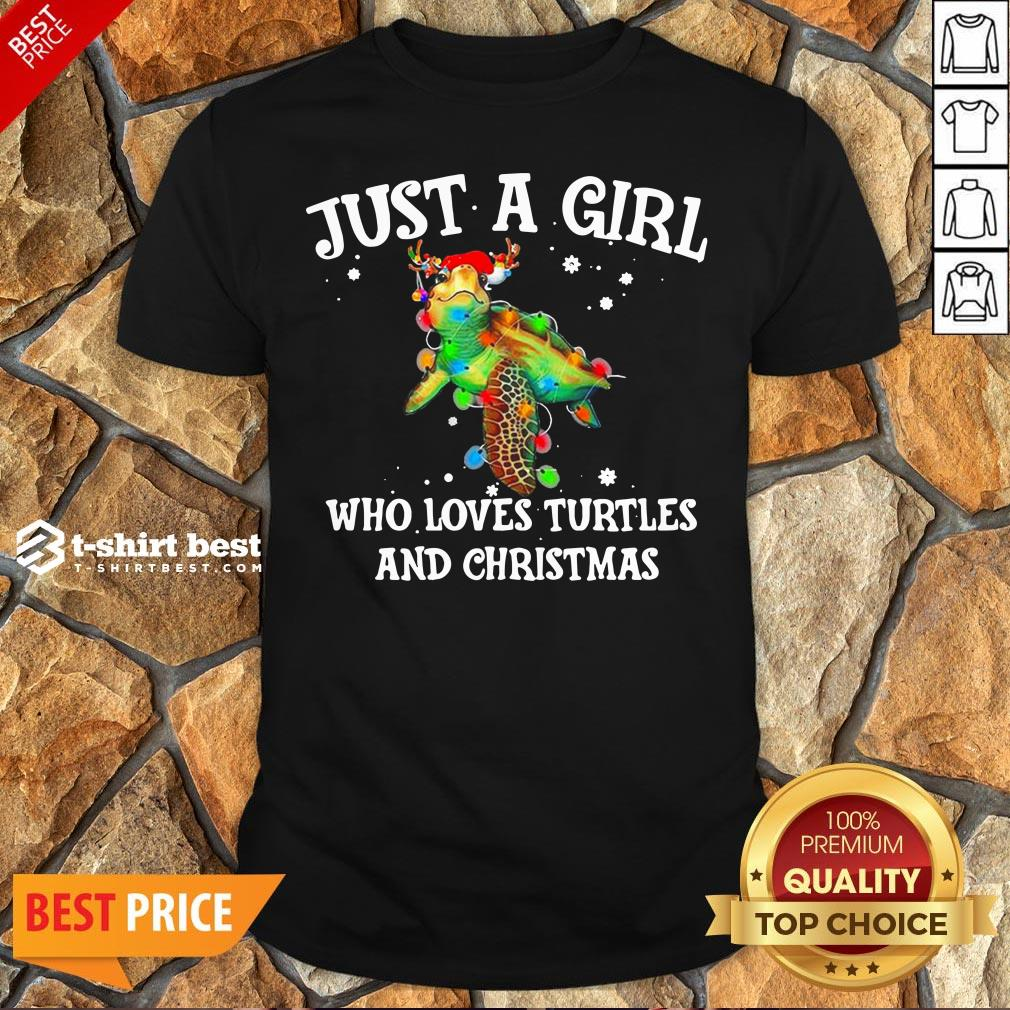 Top Just A Girl Who Loves Turtles And Christmas Shirt