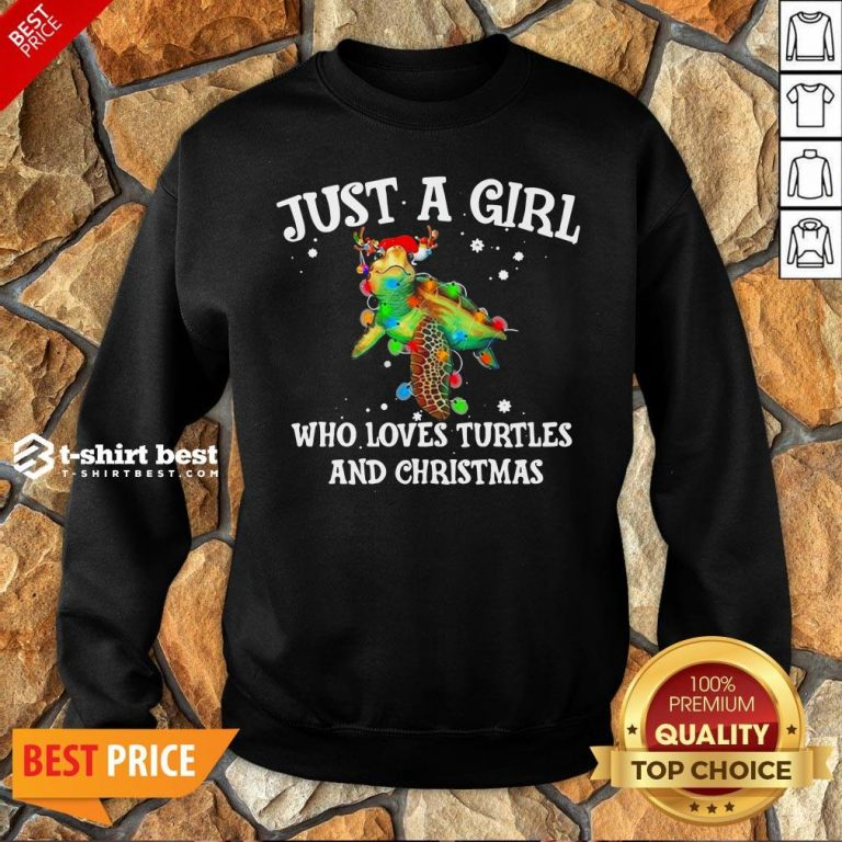 Top Just A Girl Who Loves Turtles And Christmas Sweatshirt