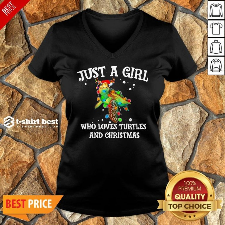 Top Just A Girl Who Loves Turtles And Christmas V-neck