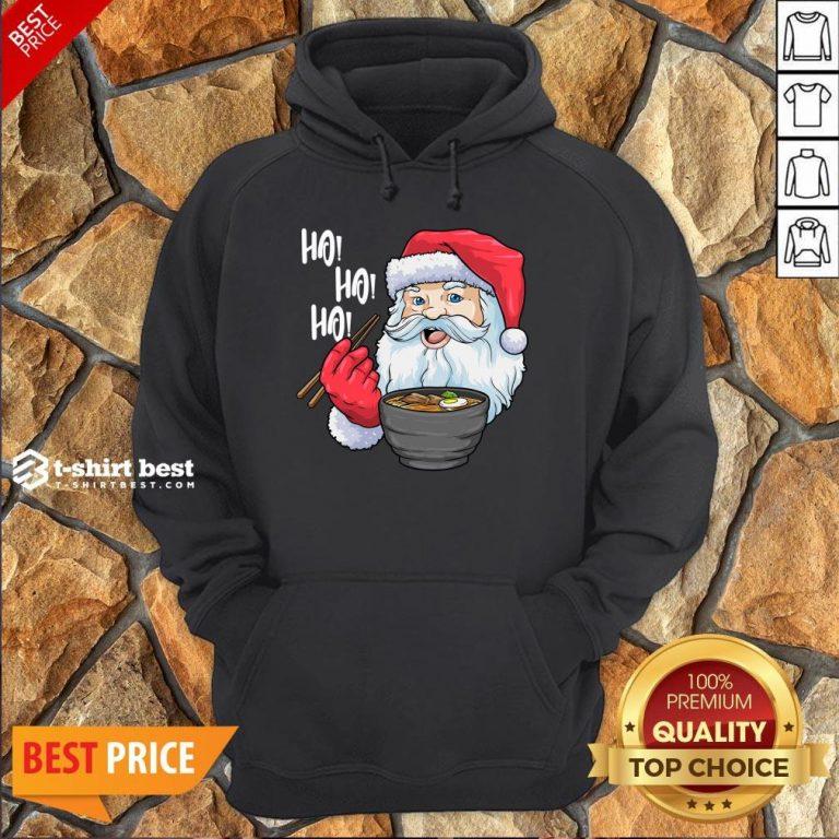 Top Santa Claus Eat Ramen Merry Christmas Hoodie