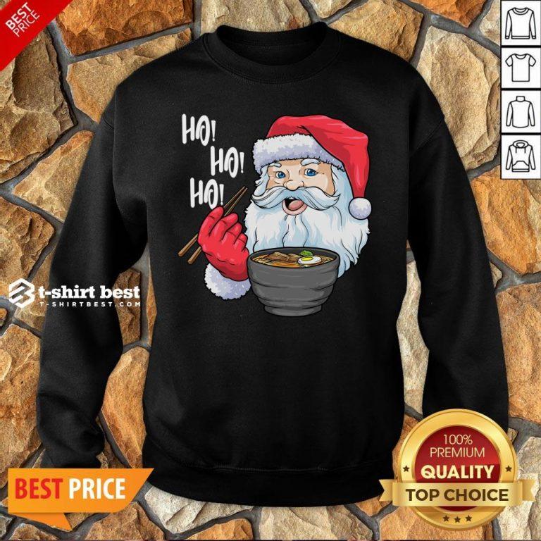 Top Santa Claus Eat Ramen Merry Christmas Sweatshirt