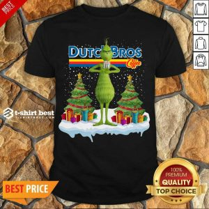 Top The Grinch Drink Dutch Bros Coffee Merry Christmas Shirt - Design By 1tees.com